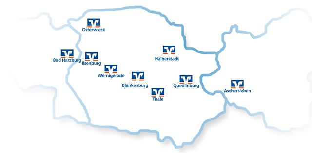 Filialen der Harzer Volksbank